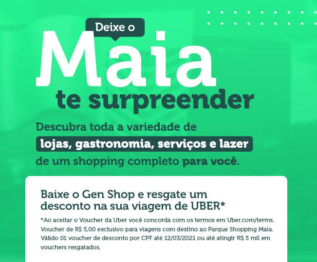 Campanha UBER + Gen Shop
