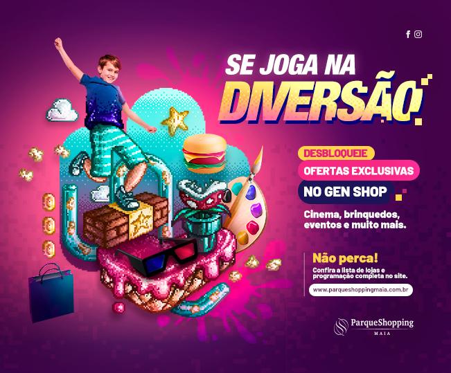 Se Joga Na Diversão - Programação especial promete esquentar as férias no Parque Shopping Maia com diversão para toda a família