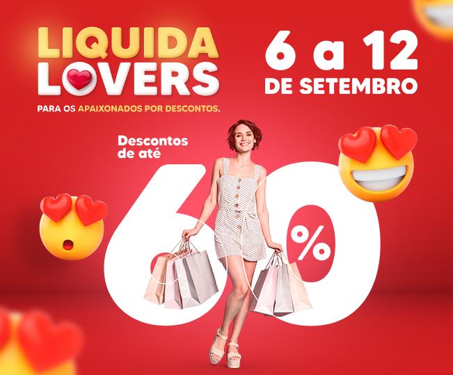 Liquida Lovers para apaixonados por descontos